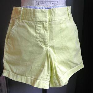 J CREW Chino shorts size 0 yellow